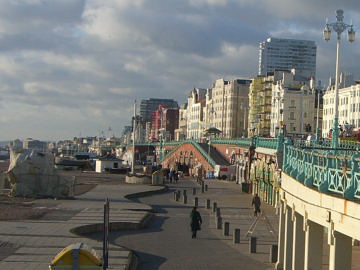 The prom towards the west