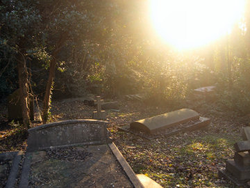Cemetery and much sun